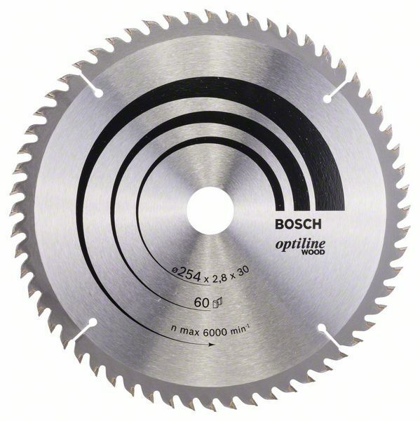 Pilový kotouč Optiline Wood - 254 x 30 x 2,8 mm, 60 - 3165140317429 BOSCH