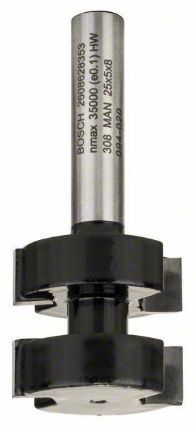Fréza na pero - 8 mm, D1 25 mm, L 5 mm, G 58 mm - 3165140358149 BOSCH