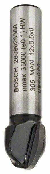 Žlábkovací fréza - 8 mm, R1 6 mm, D 12 mm, L 9,5 mm, G 40 mm - 3165140358293 BOSCH