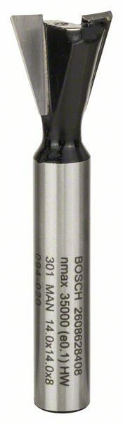 Rybinová fréza - 8 mm, D1 14,3 mm, L 12,7 mm, G 48 mm, 15° - 3165140358699 BOSCH