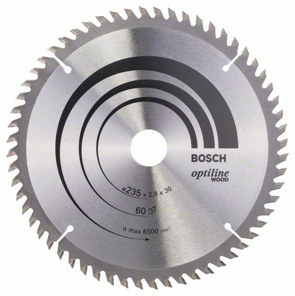 Pilový kotouč Optiline Wood - 235 x 30/25 x 2,8 mm, 60 - 3165140373746 BOSCH