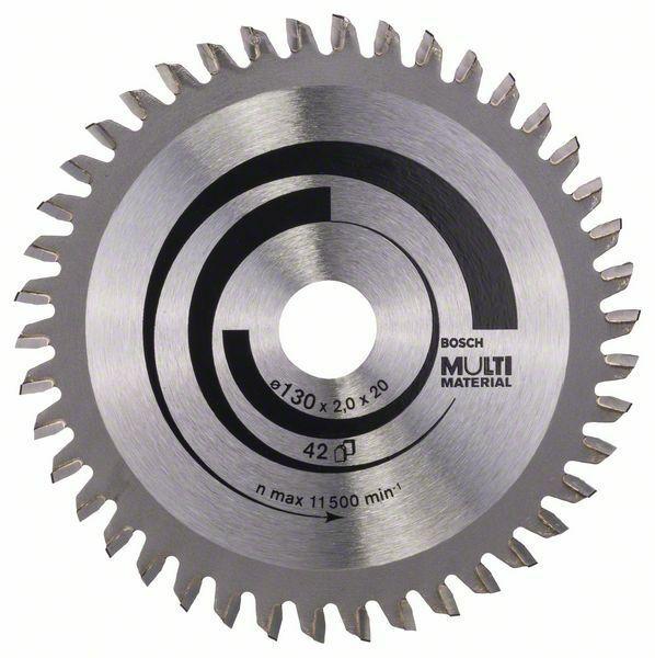 Pilový kotouč Multi Material - 130 x 20/16 x 2,0 mm, 42 - 3165140373777 BOSCH