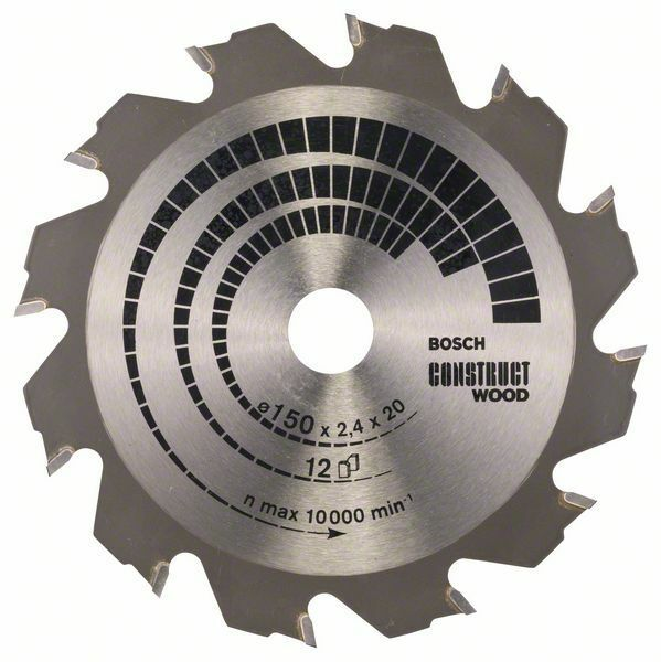 Pilový kotouč Construct Wood - 150 x 20/16 x 2,4 mm, 12 - 3165140373814 BOSCH