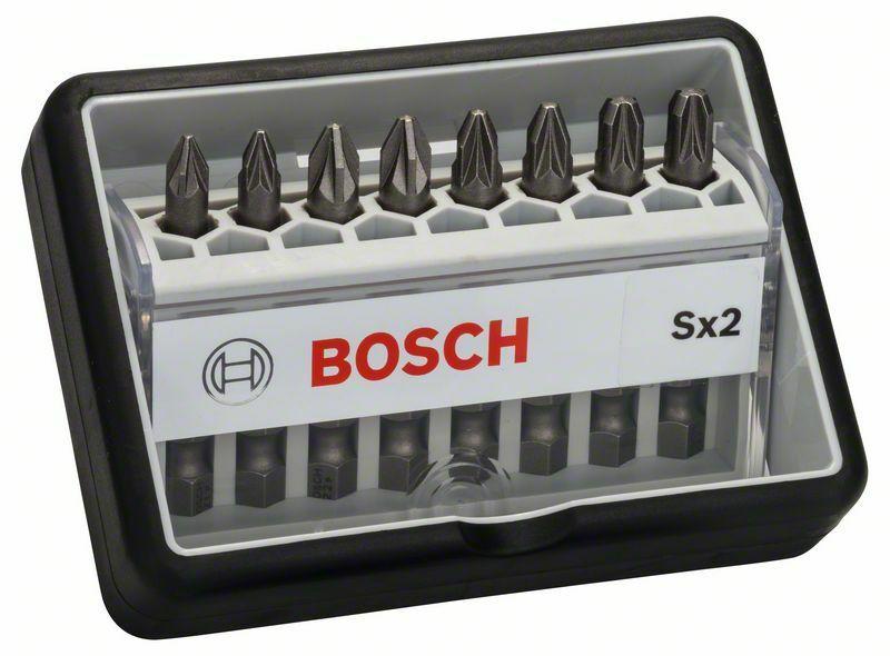 8dílná sada šroubovacích bitů Robust Line, Sx Extra-Hart 49 mm, 8dílná sada - 316514040140 BOSCH