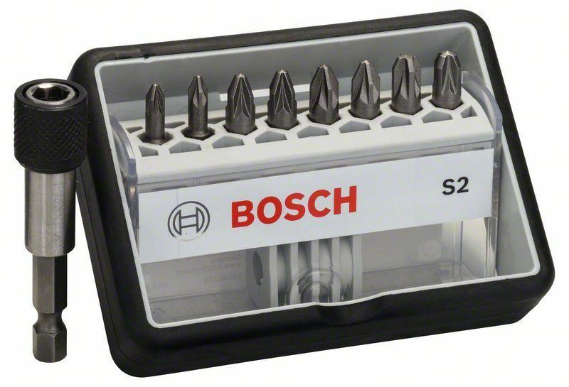 (8+1)dílná sada šroubovacích bitů Robust Line, S Extra-Hart 25 mm, (8+1)dílná sada - 31651 BOSCH
