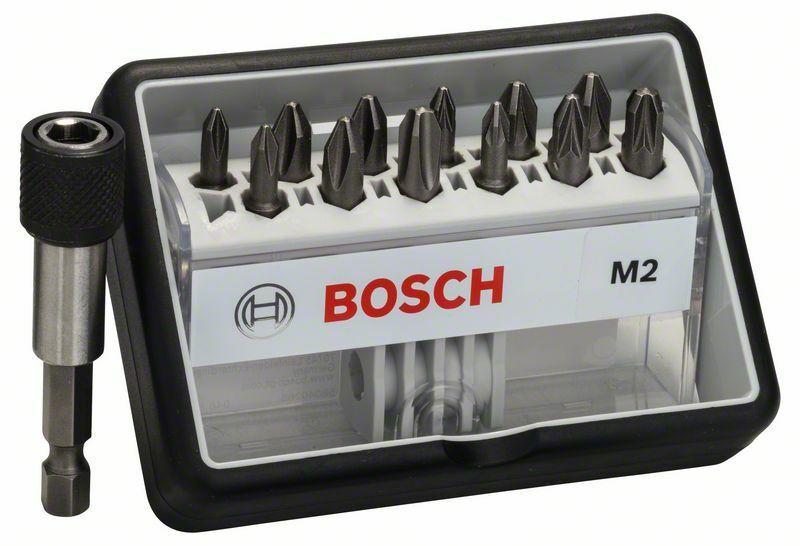 (12+1)dílná sada šroubovacích bitů Robust Line, M Extra-Hart 25 mm, (12+1)dílná sada - 316 BOSCH