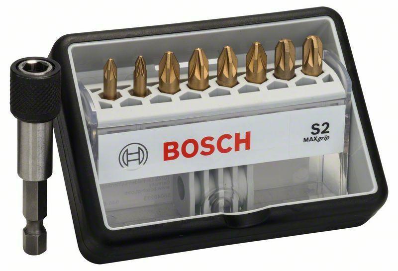 (8+1)dílná sada šroubovacích bitů Robust Line, S Max Grip - 25 mm, 8+1tlg. - 3165140401586 BOSCH