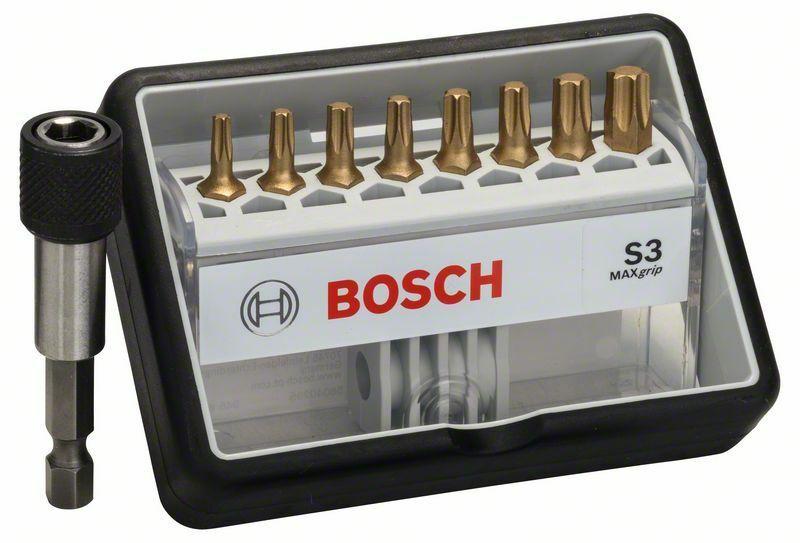 (8+1)dílná sada šroubovacích bitů Robust Line, S Max Grip 25 mm, (8+1)dílná sada - 3165140 BOSCH