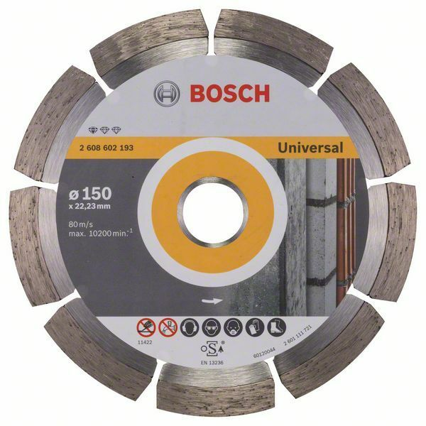 Diamantový dělicí kotouč Standard for Universal - 150 x 22,23 x 2 x 10 mm - 3165140441216 BOSCH