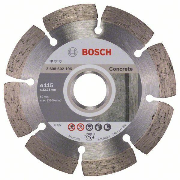 Diamantový dělicí kotouč Standard for Concrete - 115 x 22,23 x 1,6 x 10 mm - 3165140441247 BOSCH