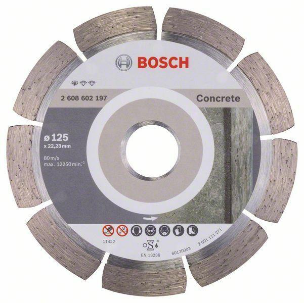 Diamantový dělicí kotouč Standard for Concrete - 125 x 22,23 x 1,6 x 10 mm - 3165140441254 BOSCH