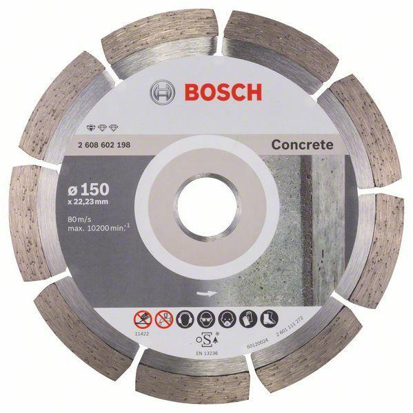 Diamantový dělicí kotouč Standard for Concrete - 150 x 22,23 x 2 x 10 mm - 3165140441261 BOSCH