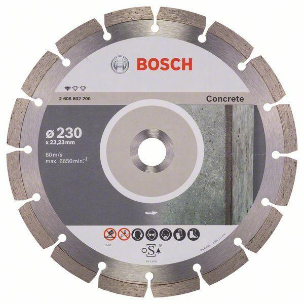 Diamantový dělicí kotouč Standard for Concrete - 230 x 22,23 x 2,3 x 10 mm - 3165140441285 BOSCH