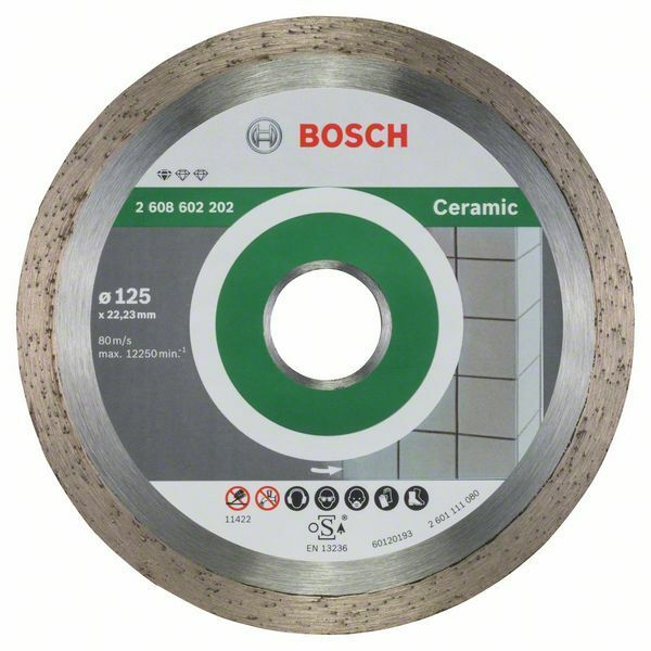 Diamantový dělicí kotouč Standard for Ceramic - 125 x 22,23 x 1,6 x 7 mm - 3165140441308 BOSCH