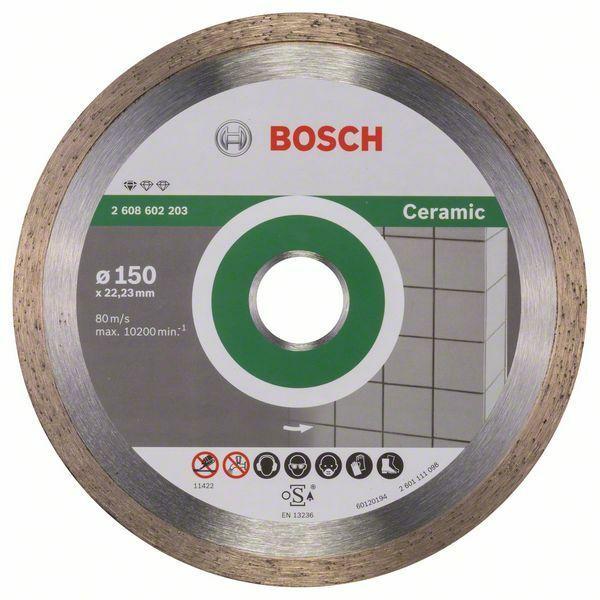 Diamantový dělicí kotouč Standard for Ceramic - 150 x 22,23 x 1,6 x 7 mm - 3165140441315 BOSCH