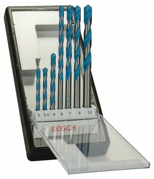 7dílná sada víceúčelových vrtáků Robust Line CYL-9 Multi Construction - 5; 5,5; 6; 6; 7; 8 BOSCH