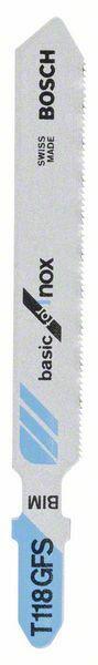 Pilový plátek do kmitací pily T 118 GFS - Basic for Inox - 3165140451840 BOSCH