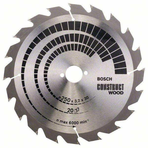 Pilový kotouč Construct Wood - 250 x 30 x 3,2 mm, 20 - 3165140455626 BOSCH