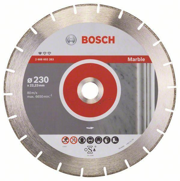 Diamantový dělicí kotouč Standard for Marble - 230 x 22,23 x 2,8 x 3 mm - 3165140484343 BOSCH