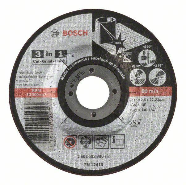 Dělicí kotouč 3 v 1 - A 46 S BF, 115 mm, 2,5 mm - 3165140505253 BOSCH