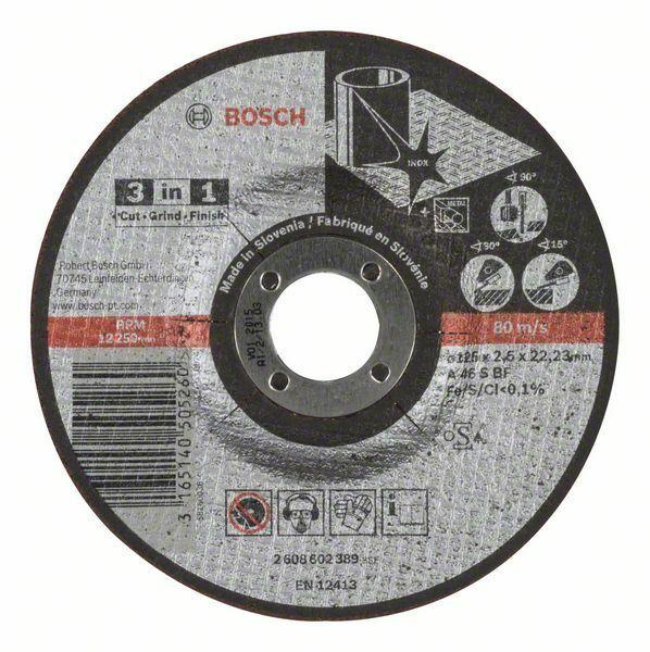 Dělicí kotouč 3 v 1 - A 46 S BF, 125 mm, 2,5 mm - 3165140505260 BOSCH