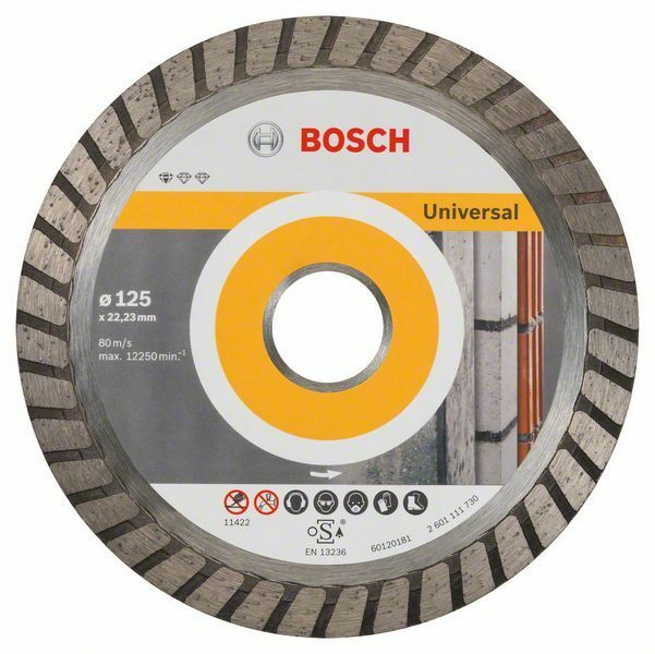 Diamantový dělicí kotouč Standard for Universal Turbo - 125 x 22,23 x 2 x 10 mm BOSCH