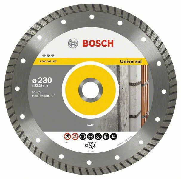 Diamantový dělicí kotouč Standard for Universal Turbo - 230 x 22,23 x 2,5 x 10 mm, BOSCH