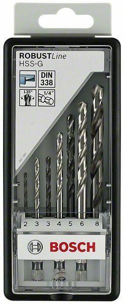7dílná sada vrtáků do kovu Robust Line HSS-G, 135°šestihranná stopka - 2; 3; 3; 4; 5; 6; 8 BOSCH