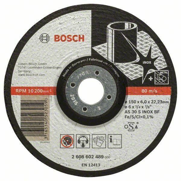 Hrubovací kotouč profilovaný Expert for Inox - AS 30 S INOX BF, 150 mm, 6,0 mm - 316514052 BOSCH