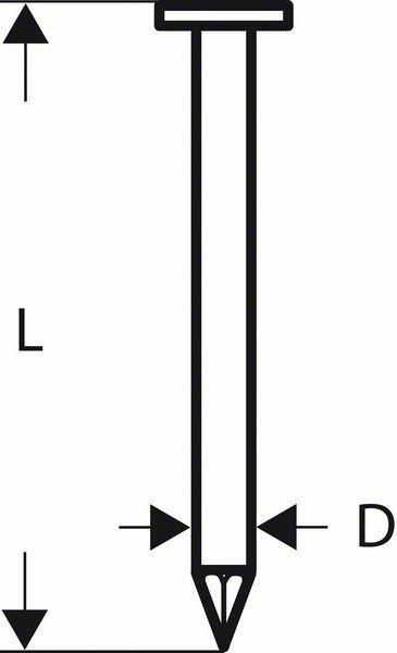 Hřebíky s kulatou hlavou v pásu SN21RK 80 - 3,1 mm, 80 mm, bez povrchové úpravy, hladký - BOSCH