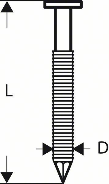 Hřebíky s kulatou hlavou v pásu SN21RK 60RG - 2,8 mm, 60 mm, pozinkovaný, drážkovaný - 316 BOSCH