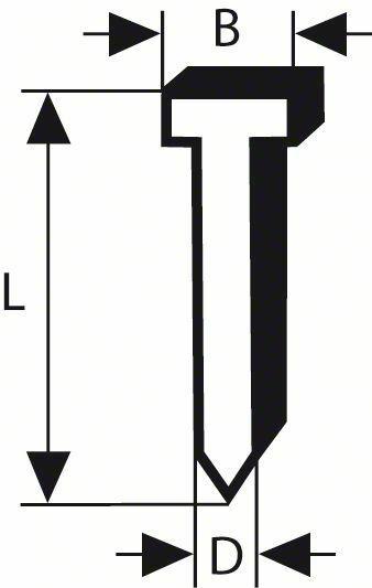 Hřeb se zápustnou hlavou SK50 19G - 1,2 mm, 19 mm, pozinkovaný - 3165140563833 BOSCH