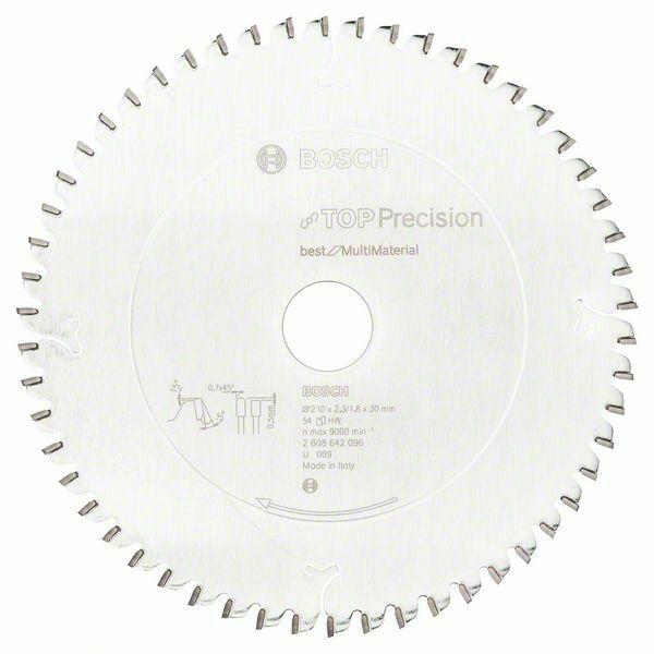 Pilový kotouč do okružních pil Top Precision Best for Multi Material - 210 x 30 x 2,3 mm, BOSCH