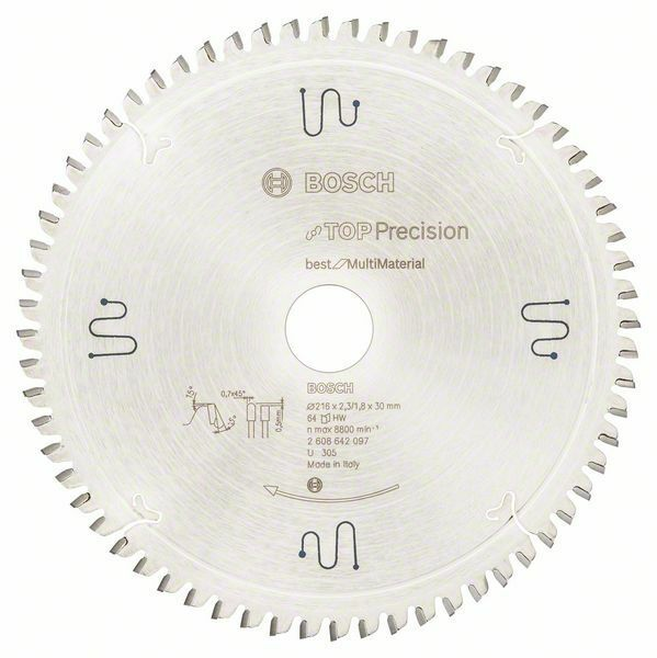 Pilový kotouč do okružních pil Top Precision Best for Multi Material - 216 x 30 x 2,3 mm, BOSCH