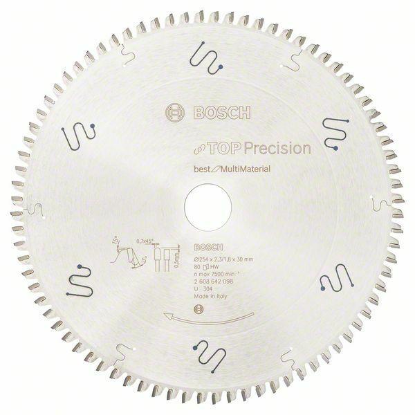 Pilový kotouč do okružních pil Top Precision Best for Multi Material - 254 x 30 x 2,3 mm, BOSCH