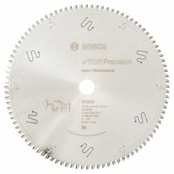 Pilový kotouč do okružních pil Top Precision Best for Multi Material - 305 x 30 x 2,3 mm, BOSCH
