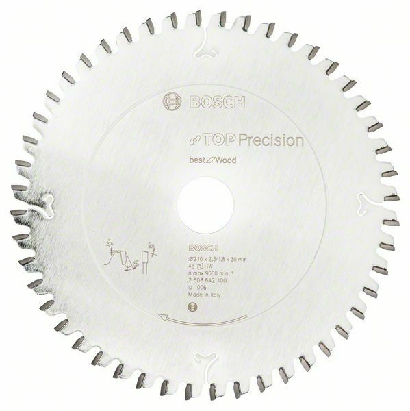Pilový kotouč do okružních pil Top Precision Best for Wood - 210 x 30 x 2,3 mm, 48 - 31651 BOSCH