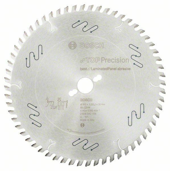 Pilový kotouč do okružních pil Top Precision Best for Laminated Panel Abrasive - 303 x 30 BOSCH