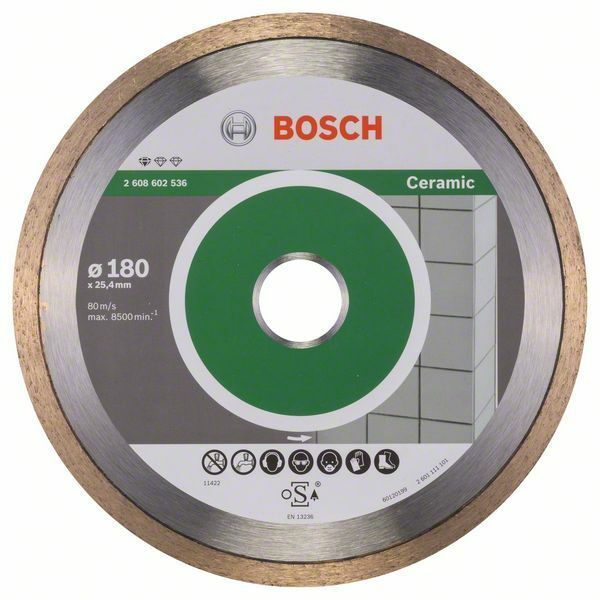 Diamantový dělicí kotouč Standard for Ceramic - 180 x 25,40 x 1,6 x 7 mm - 3165140576406 BOSCH