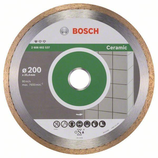 Diamantový dělicí kotouč Standard for Ceramic - 200 x 25,40 x 1,6 x 7 mm - 3165140576413 BOSCH