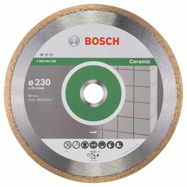 Diamantový dělicí kotouč Standard for Ceramic - 230 x 25,40 x 1,6 x 7 mm - 3165140576420 BOSCH