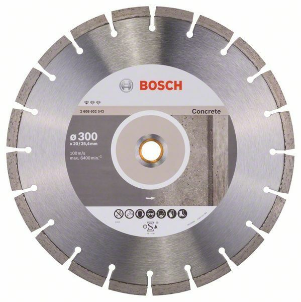 Diamantový dělicí kotouč Standard for Concrete - 300 x 20,00+25,40 x 2,8 x 10 mm BOSCH