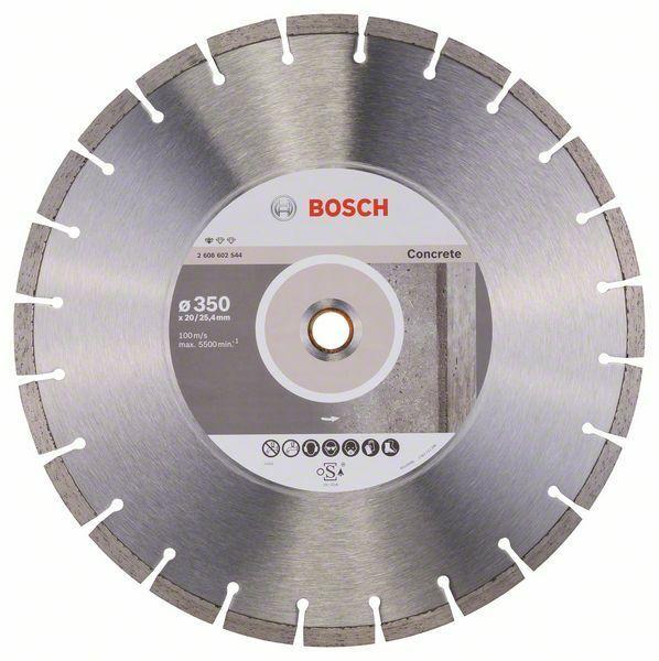 Diamantový dělicí kotouč Standard for Concrete - 350 x 20,00+25,40 x 2,8 x 10 mm BOSCH