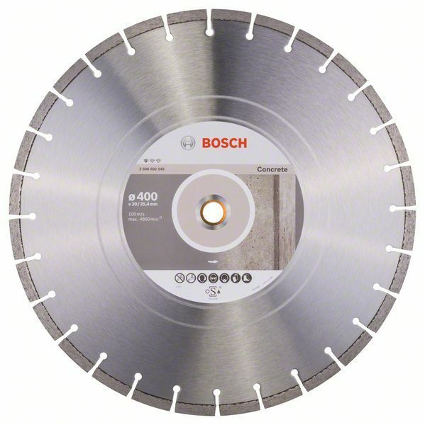Diamantový dělicí kotouč Standard for Concrete - 400 x 20,00+25,40 x 3,2 x 10 mm BOSCH