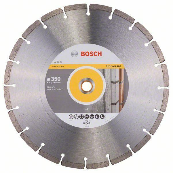 Diamantový dělicí kotouč Standard for Universal - 350 x 20,00+25,40 x 3,1 x 10 mm BOSCH