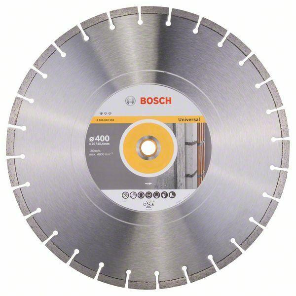 Diamantový dělicí kotouč Standard for Universal - 400 x 20,00+25,40 x 3,2 x 10 mm BOSCH