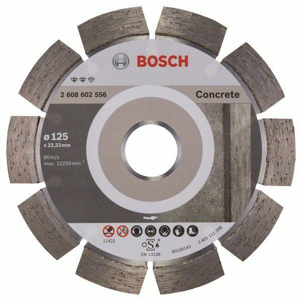 Diamantový dělicí kotouč Expert for Concrete - 125 x 22,23 x 2,2 x 12 mm - 3165140580625 BOSCH