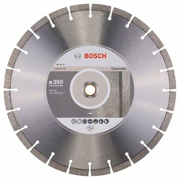 Diamantový dělicí kotouč Expert for Concrete - 350 x 20,00+25,40 x 3,2 x 12 mm BOSCH
