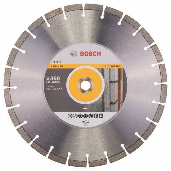 Diamantový dělicí kotouč Expert for Universal - 350 x 20,00+25,40 x 3,2 x 12 mm BOSCH