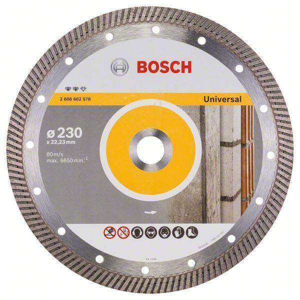 Diamantový dělicí kotouč Expert for Universal Turbo - 230 x 22,23 x 2,8 x 12 mm - 31651405 BOSCH